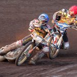 SPEEDWAY DUEL by Jack Hemming